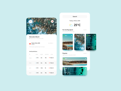 Weather and surfing conditions app