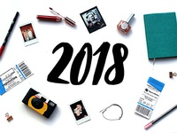 Blog post flatlay - review of 2018