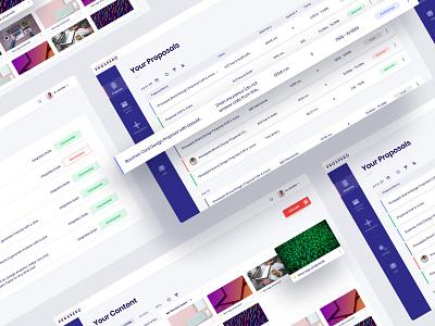 Prospero - online platform platform card sidebar layout data visualization analytics violet product design interface clean ui research dashboard webdesign ui