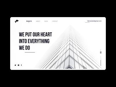 Real estate website ux ui ui design clean user interface clean ui web minimal business website minimalism property real estate