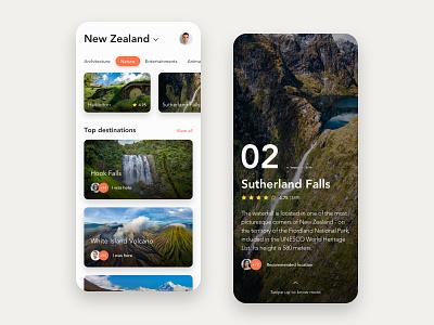 Travel App user interface ux ui mobile ui travel app mobile design design clean mobile app travel adventure