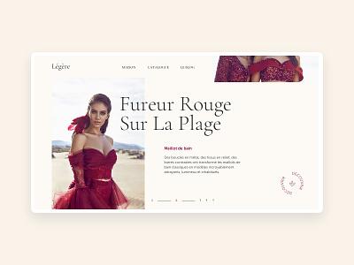 Légère Catalogue grid woman concept web interface minimal ux web design type clean shop ui fashion typogaphy