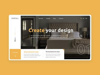 Interior Studio homepage minimalism clean interior studio web colors web design clean ui concept interior design ui design ui interior