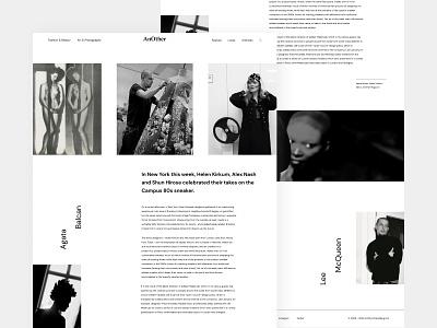 Another magazine black  white article blog clean design clean ui minimalism concept webdesign website uidesign ui fashion typogaphy