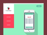 Site concept for TicketTaker