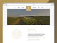 Dorvena website design