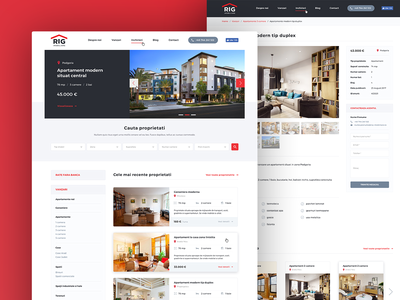 Real Estate Company Website homepage layout clean sketch app property responsive design minimal interface design user interface ui design web design website real estate