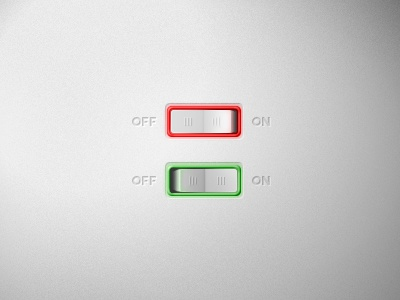 Switch ui classic button switch on off led light old fashion minimal clean
