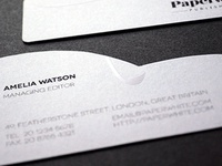 Paperwhite Business Cards