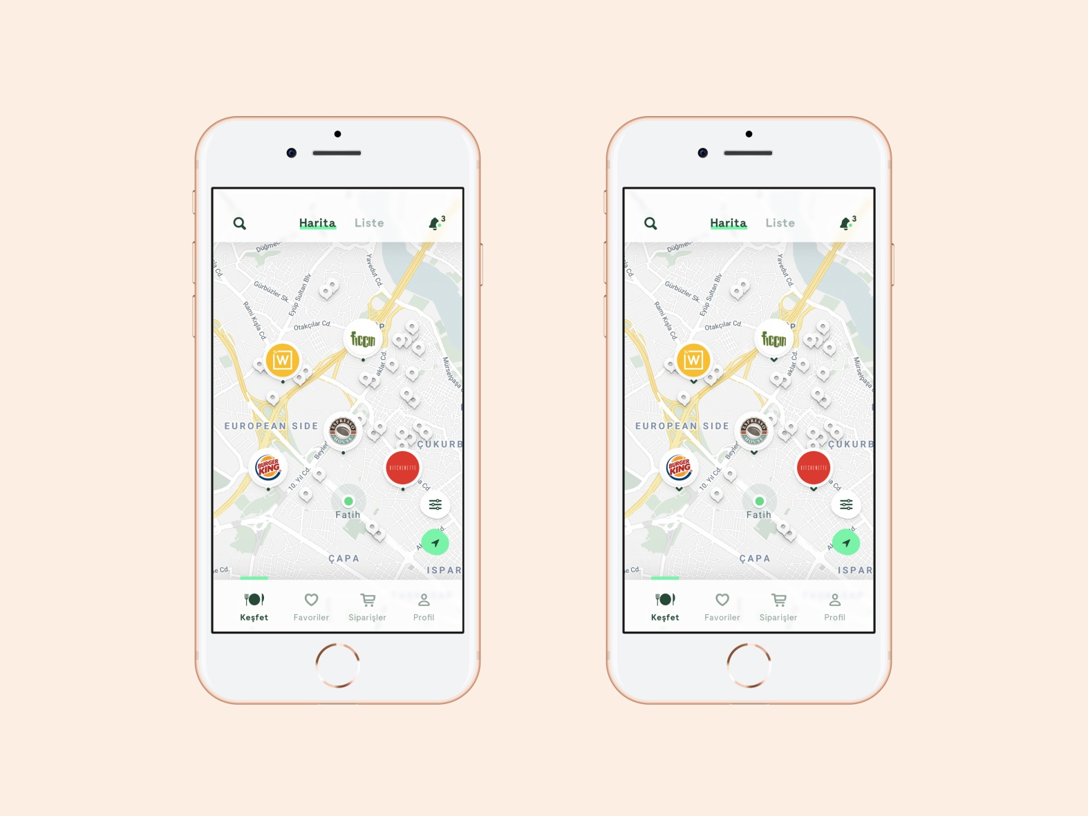 Food Delivery App Map View