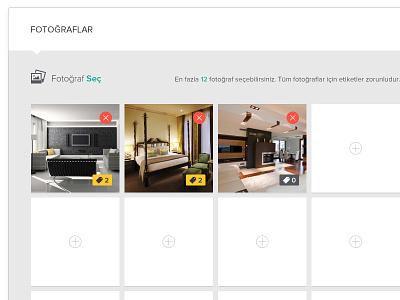 EmlakDevri Add Advert real estate estate photos gallery tag tags add delete close thumbnail icon