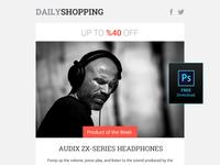 Free Shopping Newsletter Design PSD