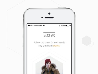 Storex iPhone App Template app template store shop shopping signin storex iphone mobile ecommerce yellow free