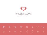 Valenticons Love & Romance Icon Set