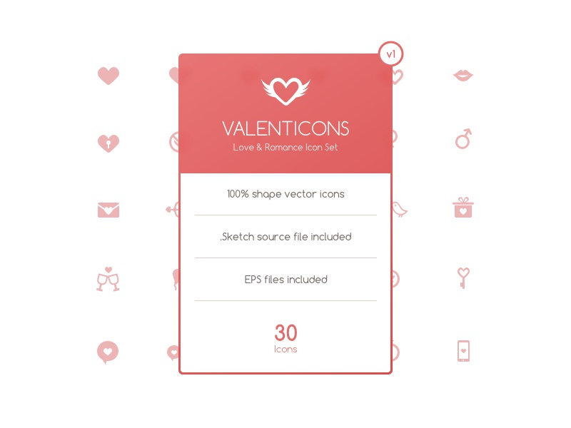 Valenticons Free Love & Romance Icon Set