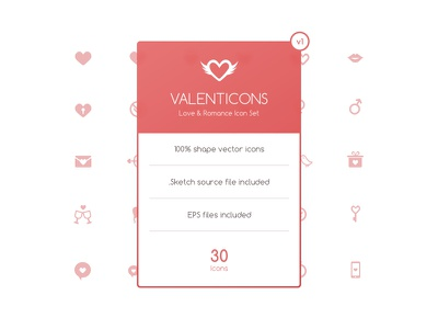Valenticons Free Love & Romance Icon Set balloon valentines love romance icon heart angel female male free kiss sketch