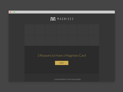 Magnises Email Campaign Wireframes & Designs wireframe email campaign dark card vip magnises newsletter html css