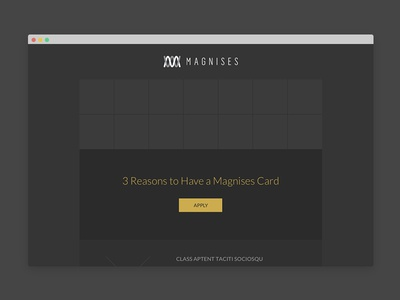 Magnises Email Campaign Wireframes & Designs