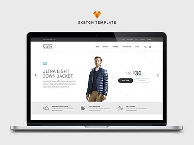 Storex Shopping Site & Blog Template filter list inspiration blog light product storex store sketch