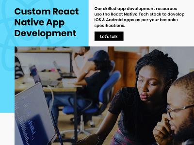 Custom React Native App Development Company in USA react native mobile development