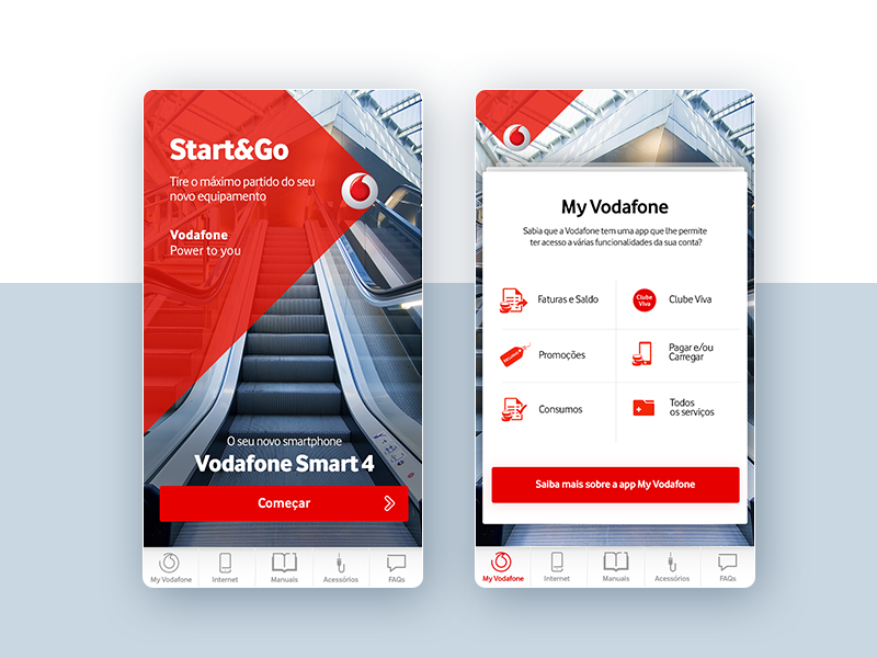 Vodafone & Netflix • UI Design design product vodafone user interactive mobile button navigation ux ui cards responsive