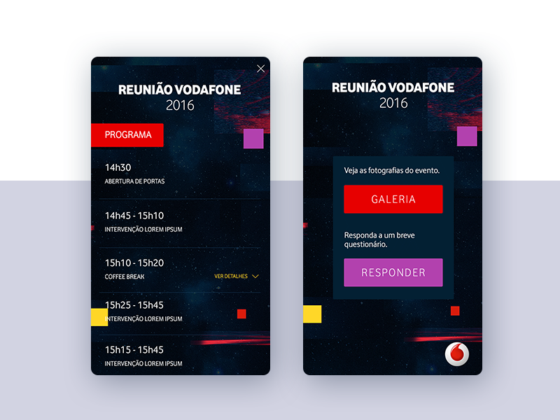 Vodafone | RAC • UI Design & UX ux user interface ui mobile meeting ios interface interactive innovation experience app android