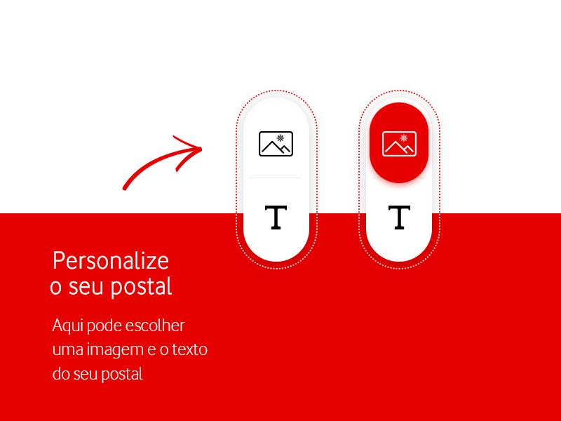 Vodafone | Christmas • UI Design web design ux users ui text plataform interface interactive image custom button