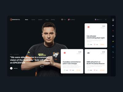 Cybersport portal / main page