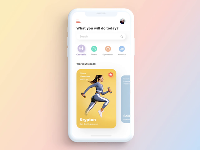 Workout App Concept Animation