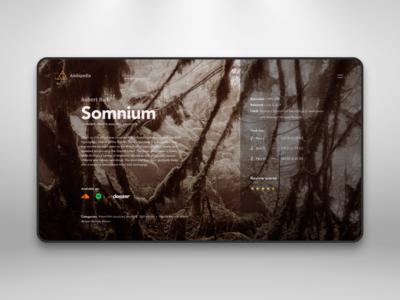 Somnium - Robert Rich, Album Page Concept