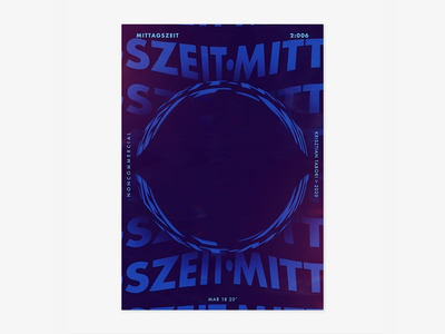 Item 2:006 design art adobe mittagszeit poster photoshop animation 2d typography motion animation illustration abstract