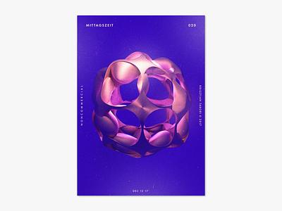 Item 020 adobe dimension mittagszeit illustration illustrator liquify photoshop abstract poster draft invite dribbble