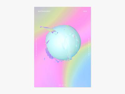 Item 025 splash adobe dimension mittagszeit illustration illustrator liquify photoshop abstract poster