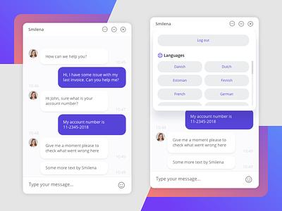 Dixa Chat Widget design ux ui service customer dixa widget chat