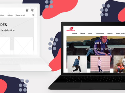 New balance redesign website