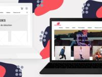 New balance redesign website