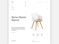 Furniture Web-page Concept