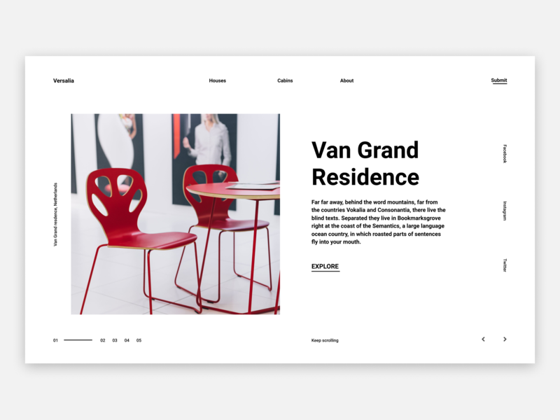 Landing Page - Property Rentals website digital figma minimal whitespace web layout design clean ui-ux design uipractice landing page