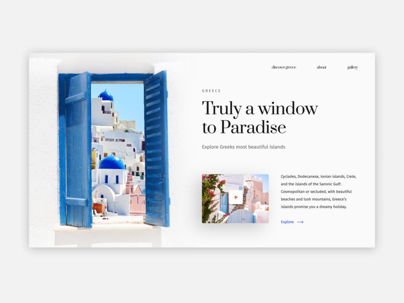 Greece - Landing Page dailyui custom greece figma design website whitespace layout ui clean ui-ux design digital
