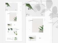 Florist webpage concept