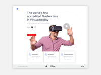 VR Training Landing Page