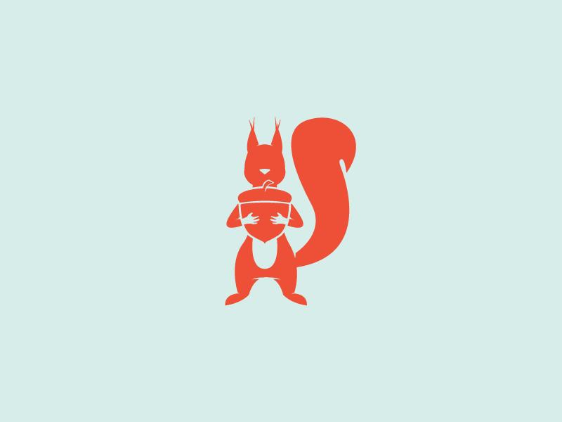 Squirrel Productivity Tools adobe squirel graphic design letter illustration branding vector animal logo