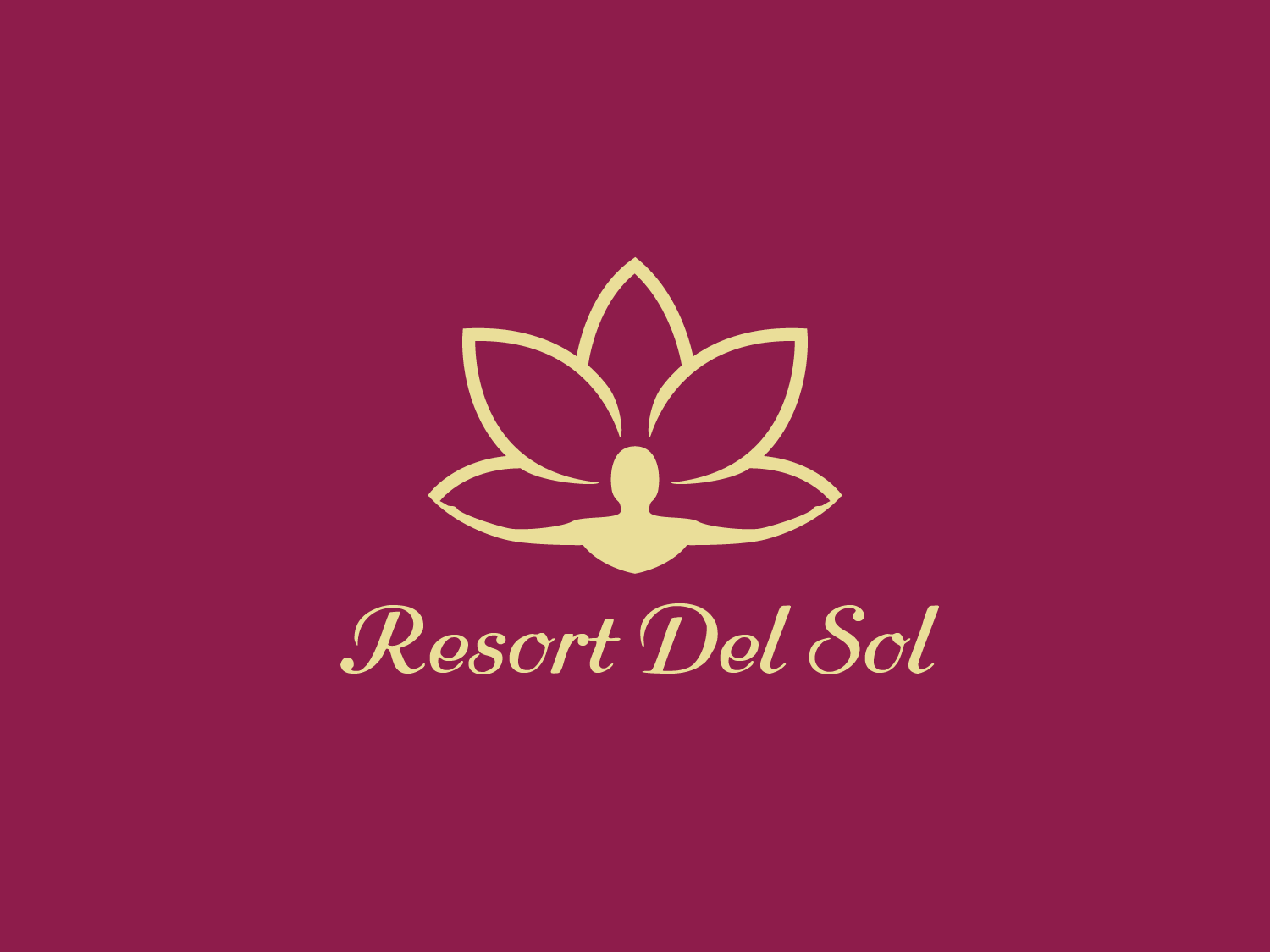 Resort Del Sol spirit resort lotus flower graphicdesign vector graphic logodesign illustrator branding illustration logo design