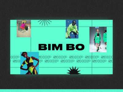 Bim bo — fashion shop green online shop shop fashion design fashion banner design