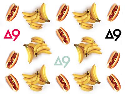 #herestothenines bananas hot dogs pattern aiga aigakc a9 photography gentlemangiant branding identity
