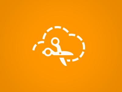 CouponCloud logo icon coupon cloud scissors branding identity