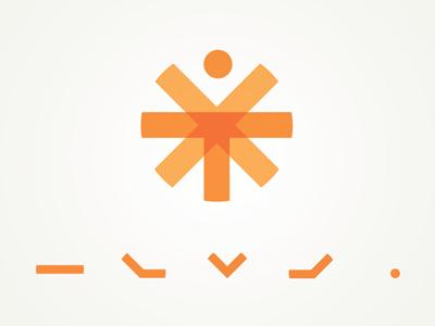 The Vitruvian Man, Reinterpreted logo icon design transparency
