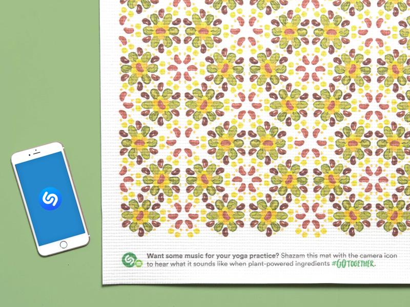 The Shazamable Yoga Mat interactive yoga mat illustration pattern yoga shazam