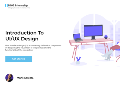ojophilip tutorials intro video page ui design landing page webdesign introduction hng lagos figma design figma nice nigeria ui  ux design design dailyui ux ui