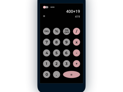calculator ui daily day 4